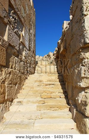 Old Walls In Kourion, Cyprus