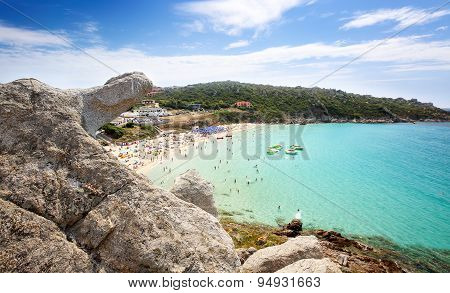 Rena Bianca the Beach of St. Teresa in Summer - North Sardinia Italy