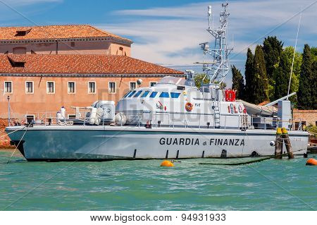 Venice. Military Boat Of The Italian Navy.