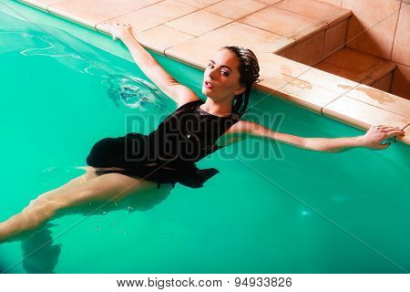 Sexual Posing Woman In Water.