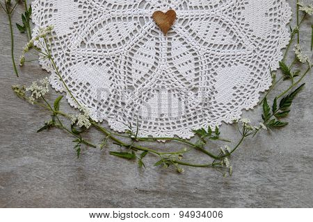 Vintage White Doily Crocheted