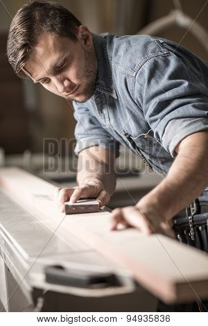 Skilled Carpenter Working