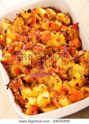 Potato And Vegetables Casserole