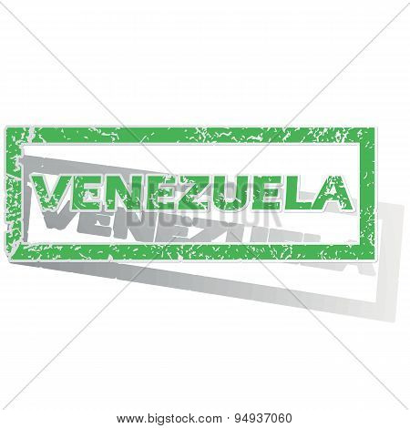 Green outlined Venezuela stamp