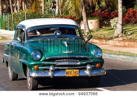 Havana, Cuba - February 5, 2008. Classic Plymouth (chrysler).