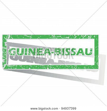 Green outlined Guinea-Bissau stamp