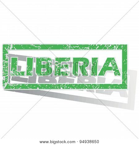 Green outlined Liberia stamp