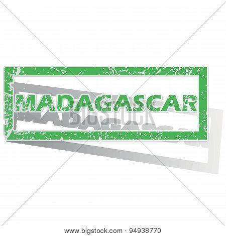 Green outlined Madagascar stamp