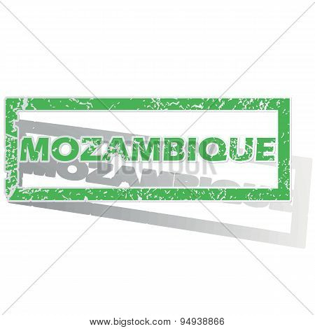 Green outlined Mozambique stamp
