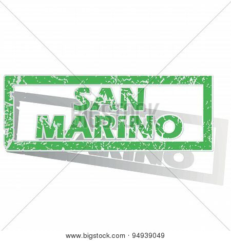 Green outlined San Marino stamp