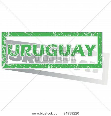 Green outlined Uruguay stamp