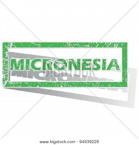 Green outlined Micronesia stamp
