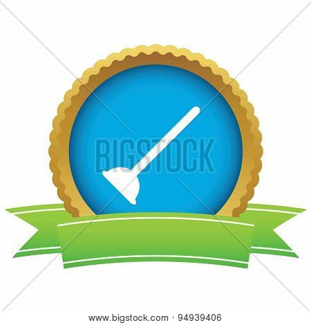Plunger certificate icon