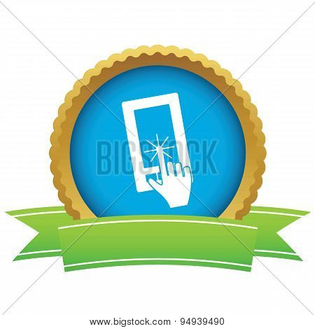 Touchscreen certificate icon