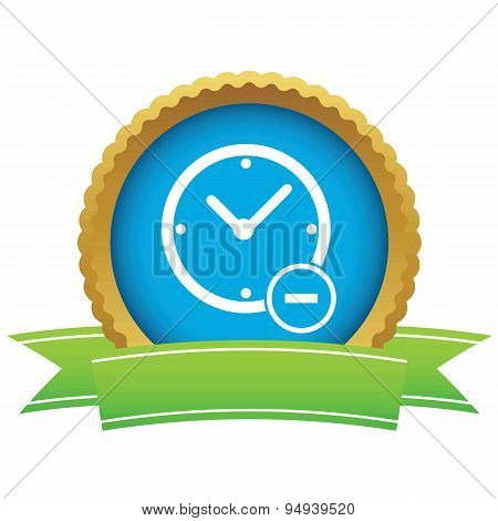 Reduce time certificate icon
