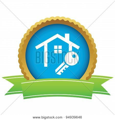 House key certificate icon
