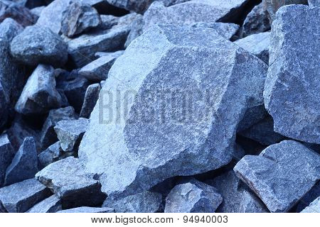 Rock Pile Is A Dense Gray Background