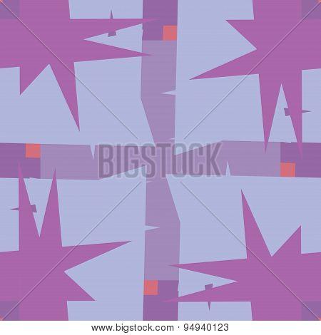 Purple Pointy Corner Pattern