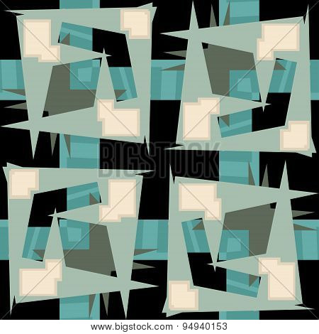 Rectangular Repeating Background Of Abstract Squares