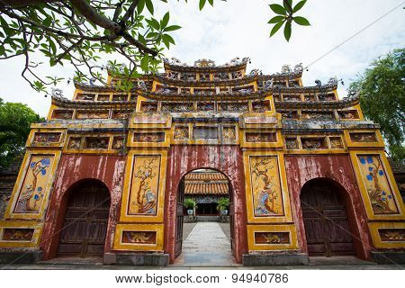 Gate of The Imperial City in Hue, Vietnam.