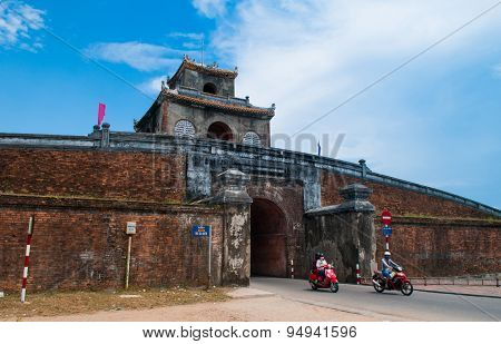 A gate of The Imperial City in Hue, Vietnam