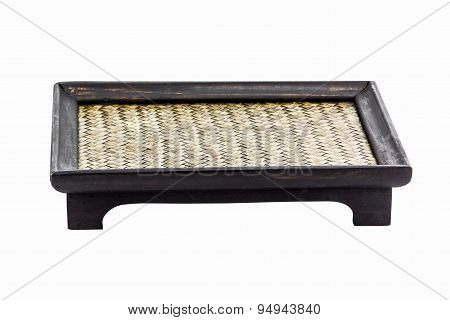 Image Of Thai Bamboo Woven Tray