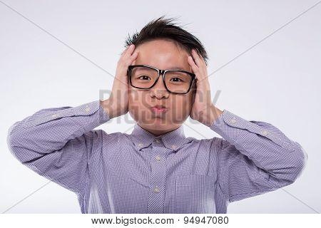 Shocked Asian Boy
