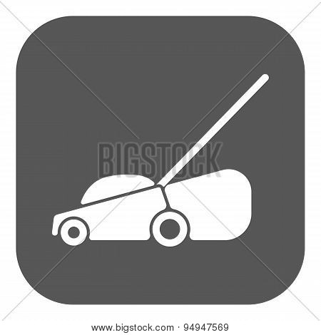 The Lawn Mower Icon. Grass Symbol. Flat