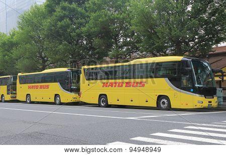 Tourist bus Hato Tokyo Japan