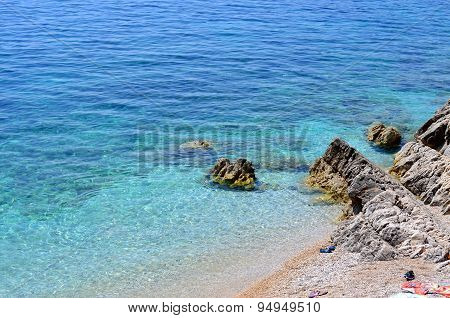 Beach With Clear Blue Sea
