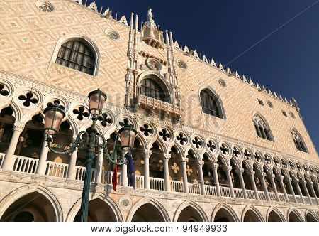 Architectural Of Doge S Palace In Venice Italy