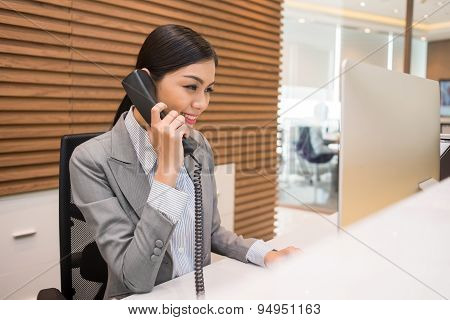 Pretty Vietnamese receptionist