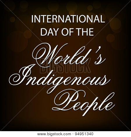 Indigenous People