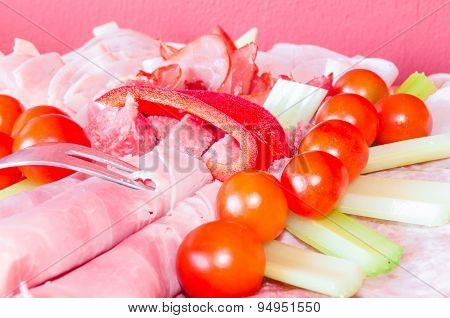 Meat Plate, Sausage Plate