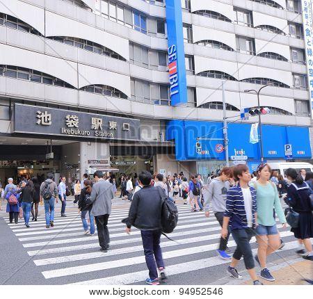 Ikebukuro train station Tokyo Japan