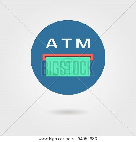 atm icon with shadow