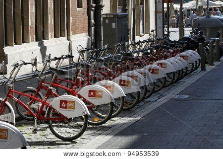 Bicycle Rental Station in Antwerp