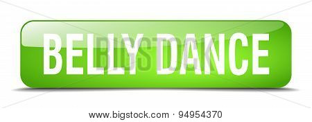 Belly Dance Green Square 3D Realistic Isolated Web Button
