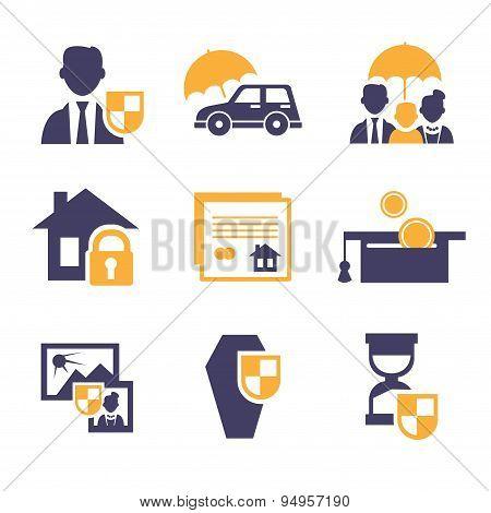Set Insurance Icons