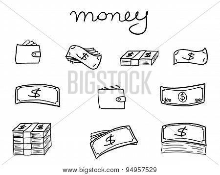 Sketchy Banknote Icons
