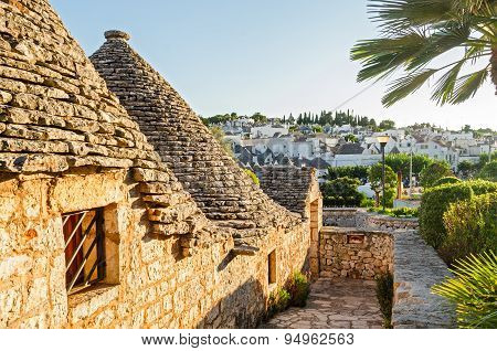 Alberobello, Trulli At Sunset, Puglia