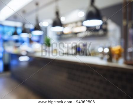 Blurred Kitchen counter Interior Background