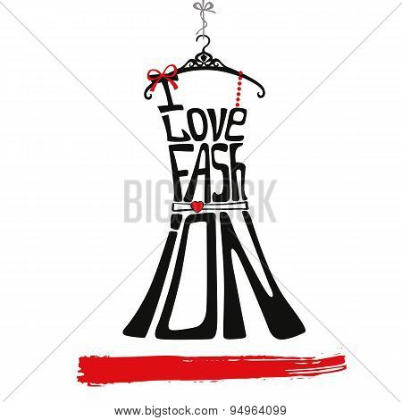 Woman dress Silhouette.I love faschion.Black,red