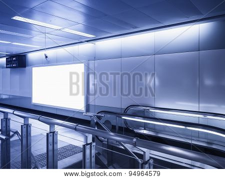 Mock up Billboard Banner light box sign display in subway station