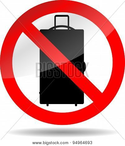 Ban Luggage Icon