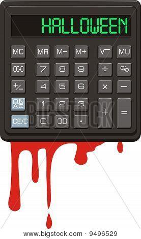 Halloween. Calculator.