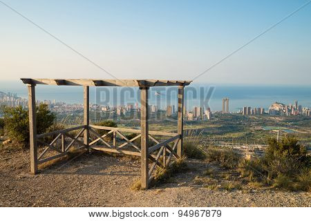 Benidorm From A Hilltop Viewpoint