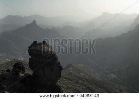 Gran Canaria, Caldera De Tejeda, Late Afternoon Light