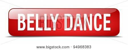 Belly Dance Red Square 3D Realistic Isolated Web Button