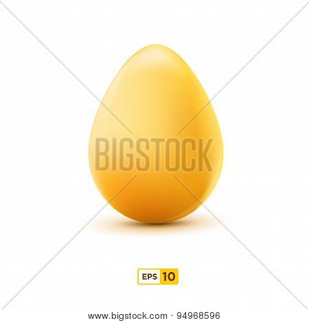 Realistic egg icon, isolated on white background. Vector illustration